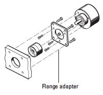 Encoder's flanges